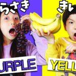【対決】24時間 ルーレットで決めた色の食べ物だけしか食べられないチャレンジ!Eating Only ONE Color of Food for 24 Hours  ♥ -Bonitos TV- ♥