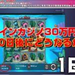 オンラインカジノ30万円で100日後にどうなるか!?【Casinoin1日目】
