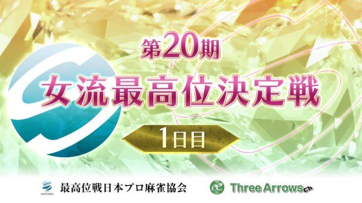 【麻雀】第20期女流最高位決定戦・1日目