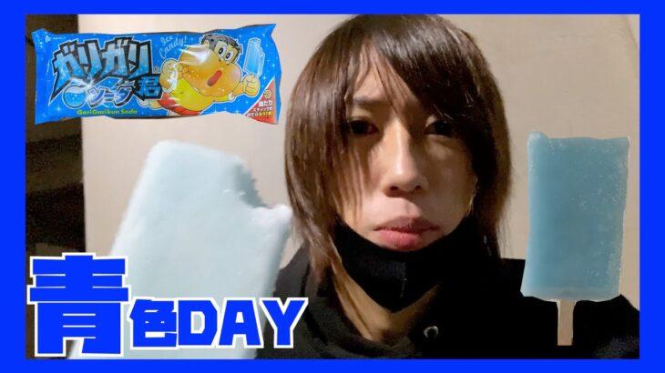 【カラフル生活】24時間ルーレットで決めた色の食べ物だけしか食べられない生活!!青色編