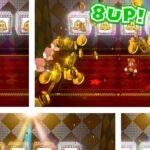 スーパーマリオ3Dワールド WORLD 5 ルーレット ベルを4つ揃えて8UP!