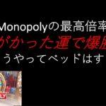 【オンラインカジノ】Evolution Gaming社のMonopolyで神がかった勝利をおさめてみた。