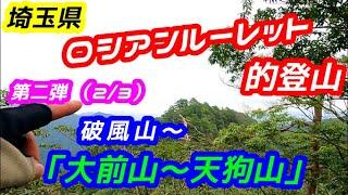 【登山】ロシアンルーレット的登山 「第二弾」破風山プチ縦走(2/3)「破風山頂」から、「大前山~天狗山」まで。