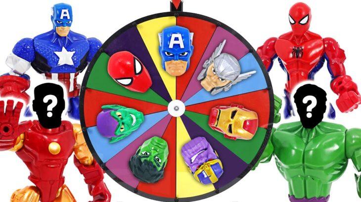 大きなルーレットをハルク、スパイダーマン、アイアンマンに変身させよう!| ドゥドゥポップ